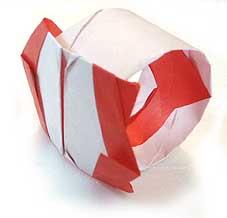寶石戒指的摺紙方法