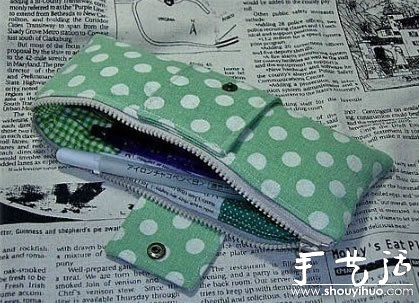 蝴蝶結筆袋的製作方法