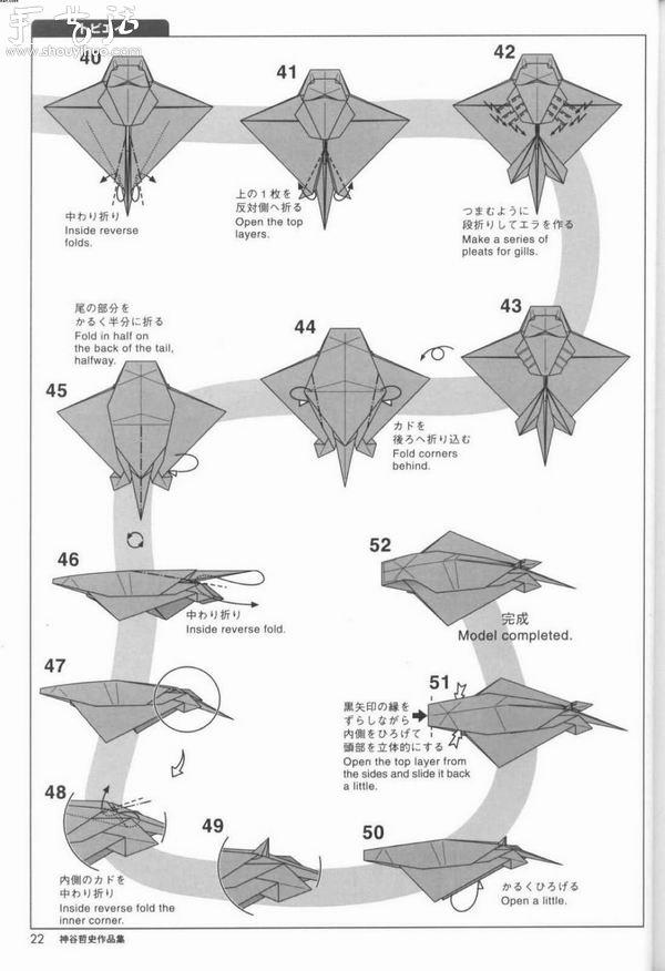 动物身上的花纹_魔鬼鱼的折纸方法(5)_手艺活网