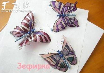 廢舊塑料瓶子手工製作蝴蝶的方法