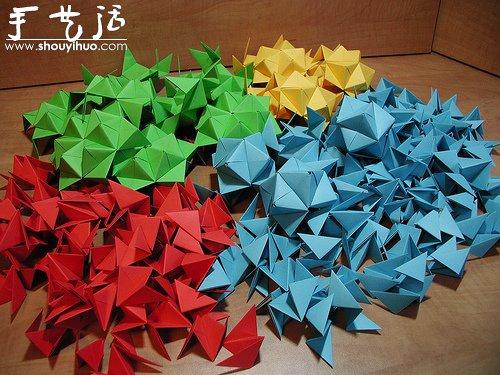 立体折纸手工作品展示