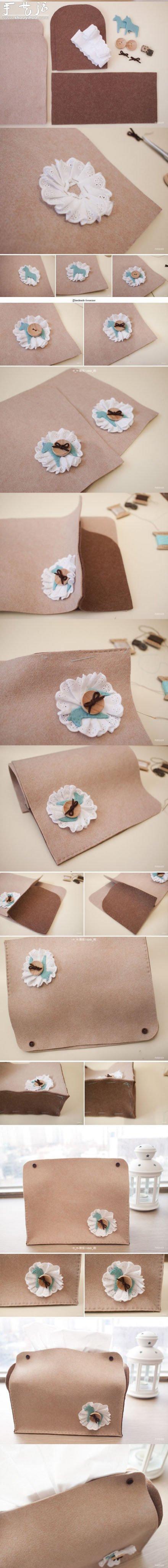 不織布製作優雅女包的布藝教程