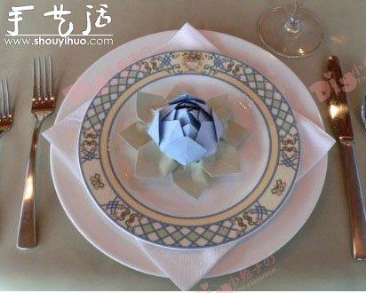 折纸睡莲的手工制作方法 -  www.shouyihuo.com