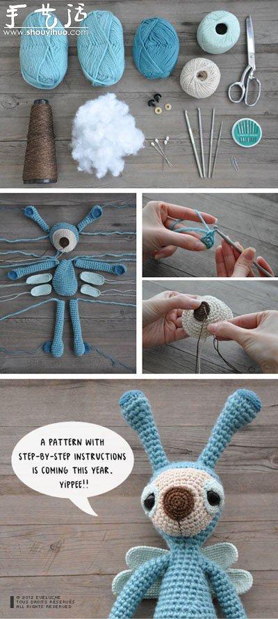 鉤針製作可愛卡通小人的教程