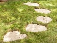 荷葉模板製作田園石路的教程