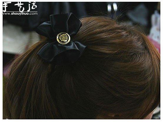 綢緞製作漂亮頭花發卡的手工教程