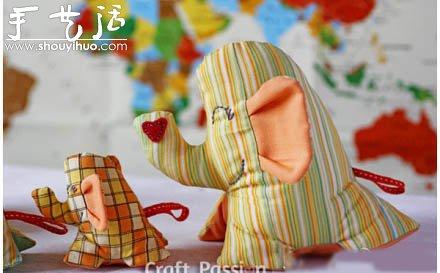 布藝製作可愛大象玩偶的教程