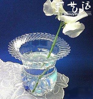 可乐瓶(塑料瓶)DIY漂亮花瓶的教程 -  www.shouyihuo.com