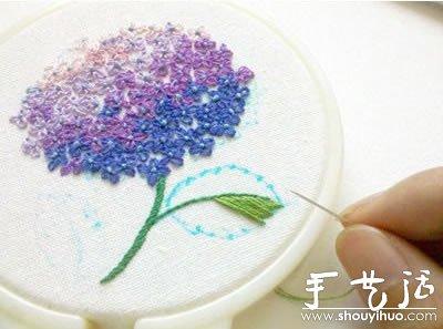 精致的花朵刺绣图片欣赏 -  www.shouyihuo.com