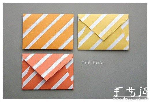 製作可愛信封的手工摺紙教程