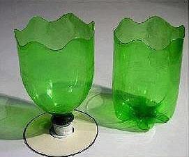饮料塑料瓶和光盘废物利用制作花盆的教程 -  www.shouyihuo.com