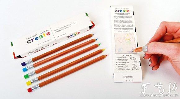 彩色鉛筆包裝盒設計欣賞