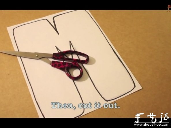 手工DIY字母装饰画的教程 -www.shouyihuo.com