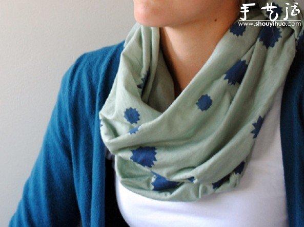 簡單DIY漂亮的染印圍巾教程