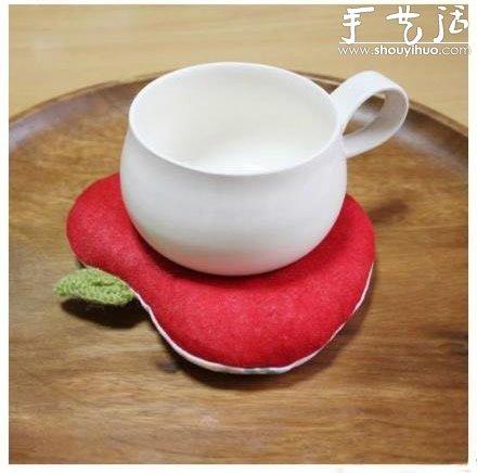 日本hokkori甜甜圈布藝杯墊