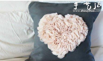 雪紡布手工DIY心形圖案的教程