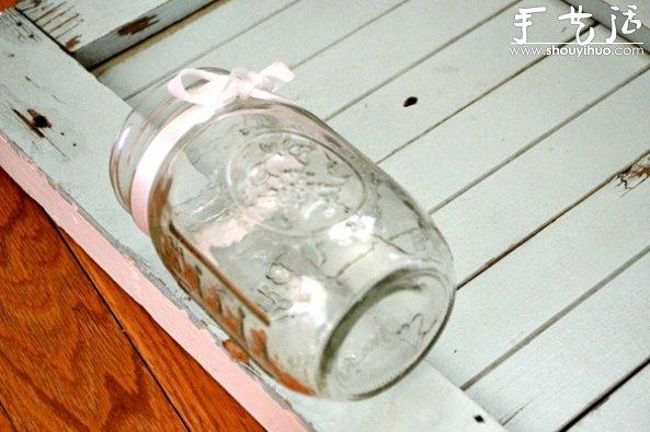 玻璃瓶DIY盆栽百葉窗的教程