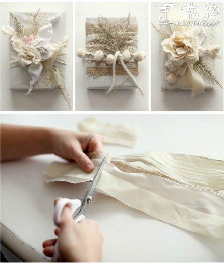 布藝DIY素麻zakka花朵的教程