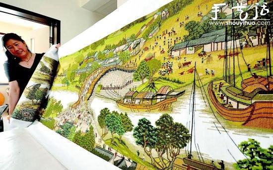 巨幅《清明上河圖》十字綉 耗時3年完成