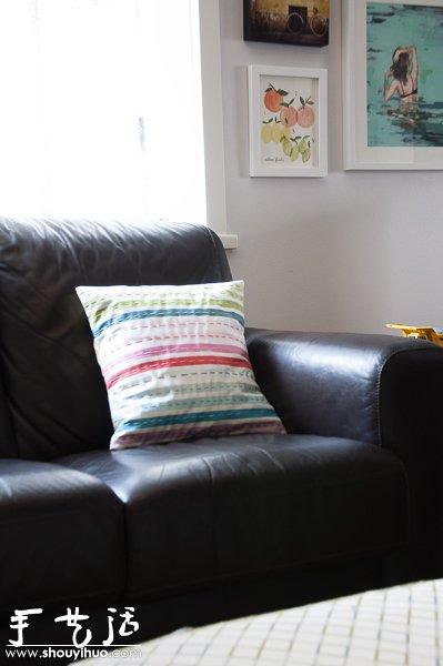 手工布藝製作簡單抱枕/靠枕的教程