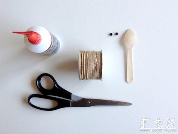 一次性勺子废物利用DIY昆虫玩具 -  www.shouyihuo.com
