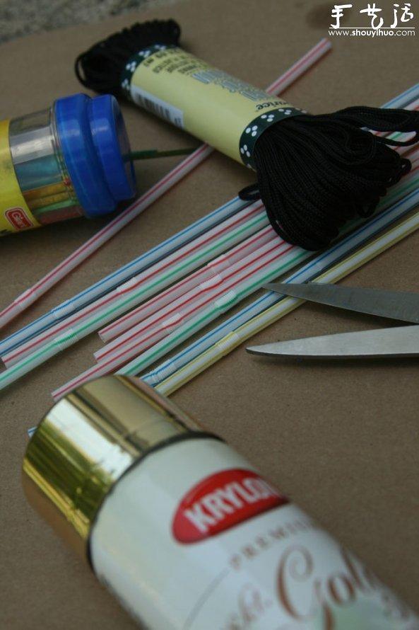 塑料吸管DIY時尚項鏈的教程
