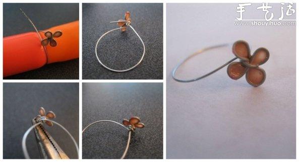 鐵絲DIY小花戒指的教程