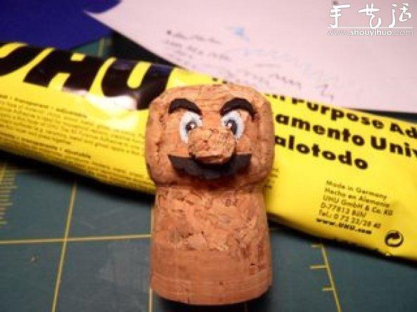 紅酒木塞子手工DIY馬里奧的教程