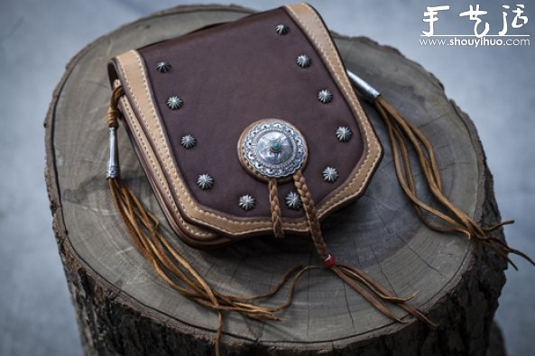 少數民族風包包裝飾銀扣DIY教程