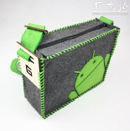 DIY安卓圖標毛氈單肩包