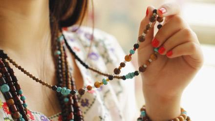 純手工DIY的串珠飾品