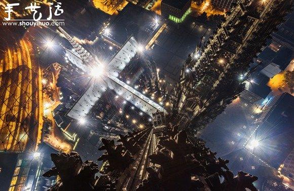 城市最高點的俯拍視角