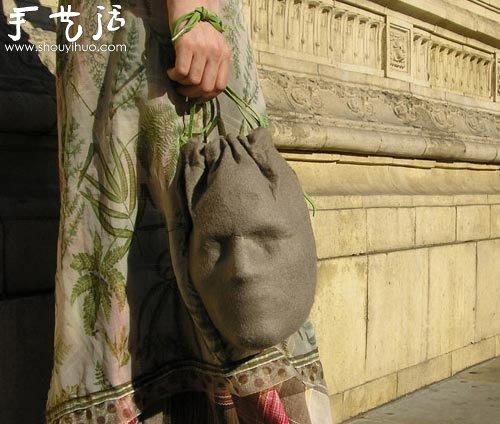 人臉手提袋