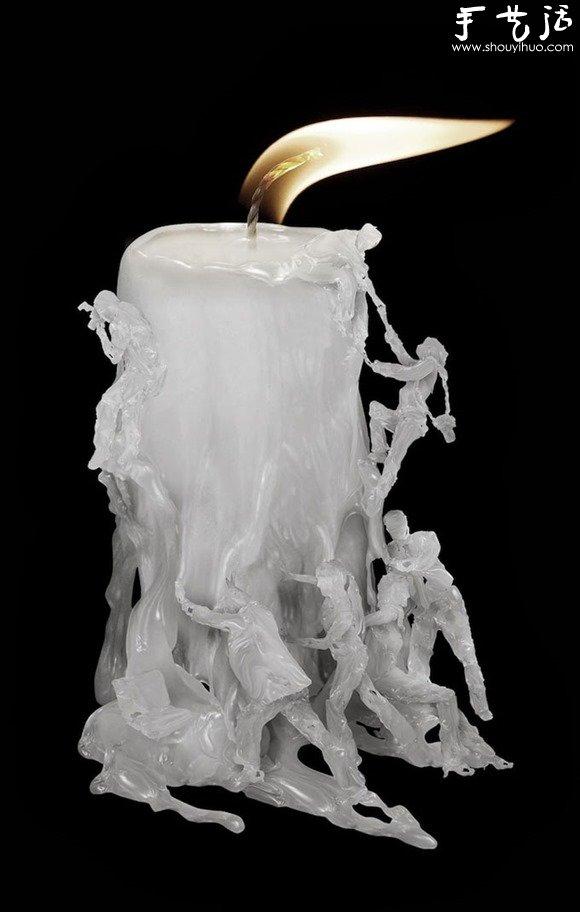 创意蜡烛雕刻艺术 手艺活网
