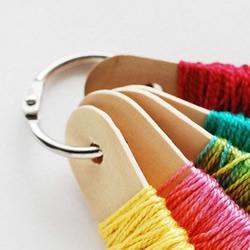 冰棒棍废物利用 解决棉线存放烦恼