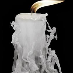 创意蜡烛雕刻艺术