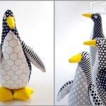 手工布艺制作企鹅玩偶的教程