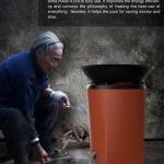 烧水做饭两不误的环保炉子