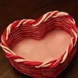 手工制作心形收纳篮的方法