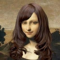 要是蒙娜丽莎是一个时髦的女大学生
