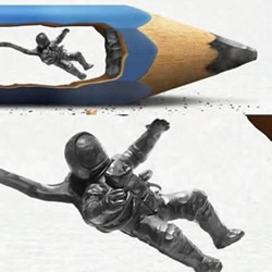 大师级别的铅笔芯雕刻艺术