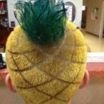 霸气侧漏的菠萝头发型设计