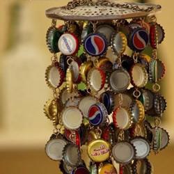 瓶盖DIY制作的风铃
