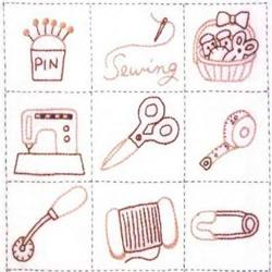 很可爱的刺绣图案 配有刺绣针法图解