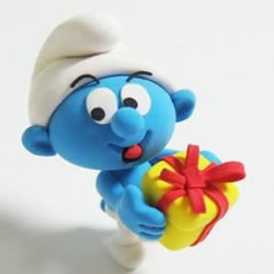 软陶手工制作可爱的蓝精灵