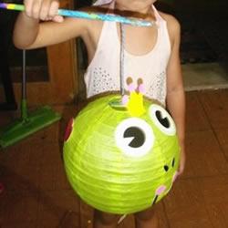 自己动手DIY可爱的青蛙灯笼