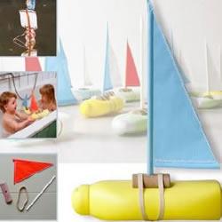 洗发水瓶/沐浴液瓶DIY制作小帆船