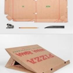 披萨盒创意DIY笔记本支架