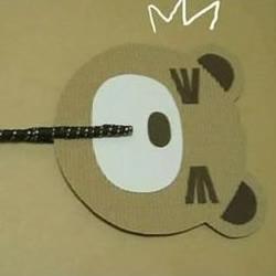 硬纸板DIY小熊纸扇的教程
