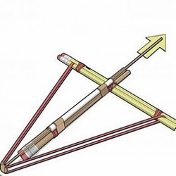 ��射橡皮的玩具弓弩的手工制作方法